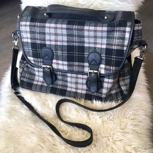 Urban Outfitters Plaid Cross Body Messenger Bag